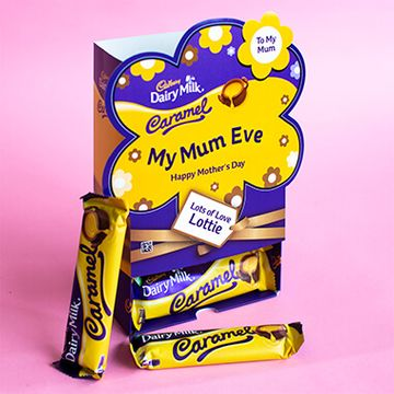 Personalised Mothers Day Favorites Box - Dairy Milk Caramel