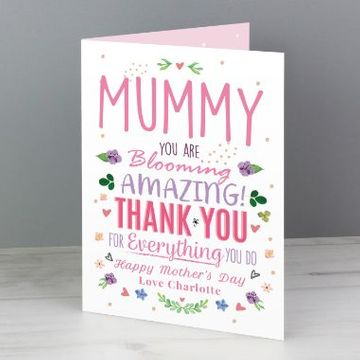 Personalised Blooming Amazing Card