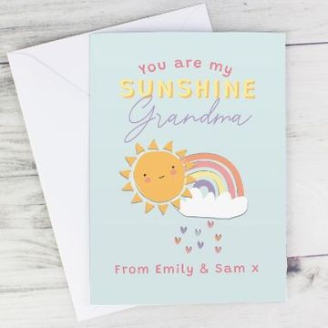Personalised You Are My Sunshine Personalised Card