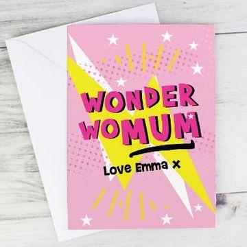 Personalised Wonder WoMum Card