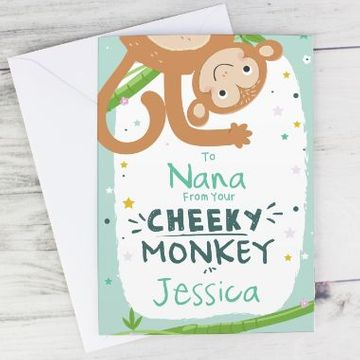Personalised Cheeky Monkey Card