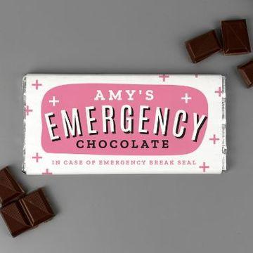 Personalised Emergency Chocolate Bar