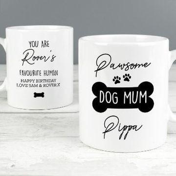 Personalised Pawsome Dog Mum Mug