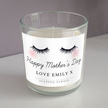Personalised Fabulous Lashes Scented Candle