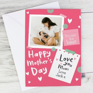 "Personalised ""Happy Mother's Day"" Photo Upload Card"