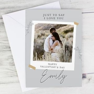 Personalised Grey Snapshot Photo Upload Card