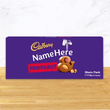 Personalised Cadbury Dairy Milk Fruit & Nut Share Pack