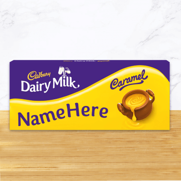 Personalised Cadbury Dairy Milk Caramel Share Pack