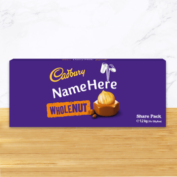 Personalised Cadbury Dairy Milk Whole Nut Share Pack