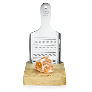 Rivsalt Himalayan Rock Salt With Grater & Stand - Large