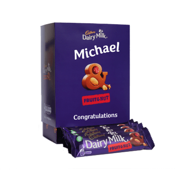 Personalised Favourites Box - Dairy Milk Fruit & Nut