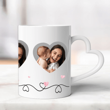 Personalised Heart Photo Mug