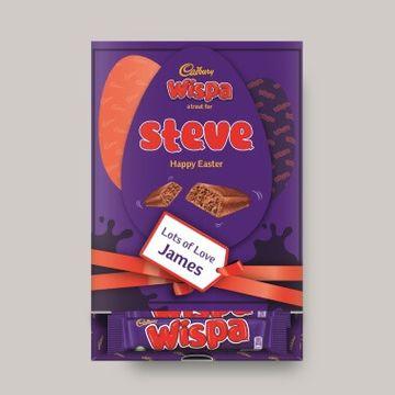 Personalised Easter Cadbury Wispa Favourites Box