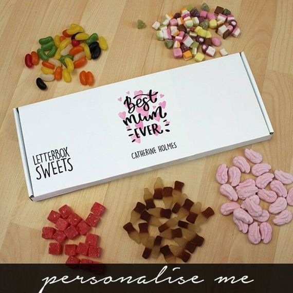 Personalised Best Mum Letterbox Sweets