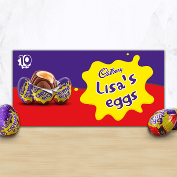 Personalised Cadbury Creme Egg Box