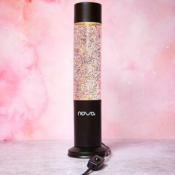 Nova Black Glitter Lamp