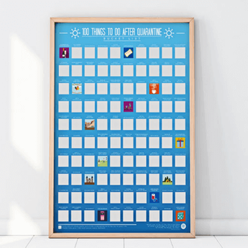 100 Things to Do after Quarantine Scratch Off Poster