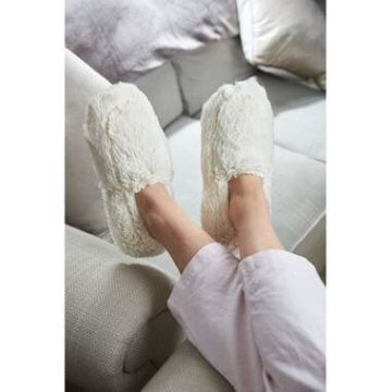 Cozy Microwavable Slippers Cream
