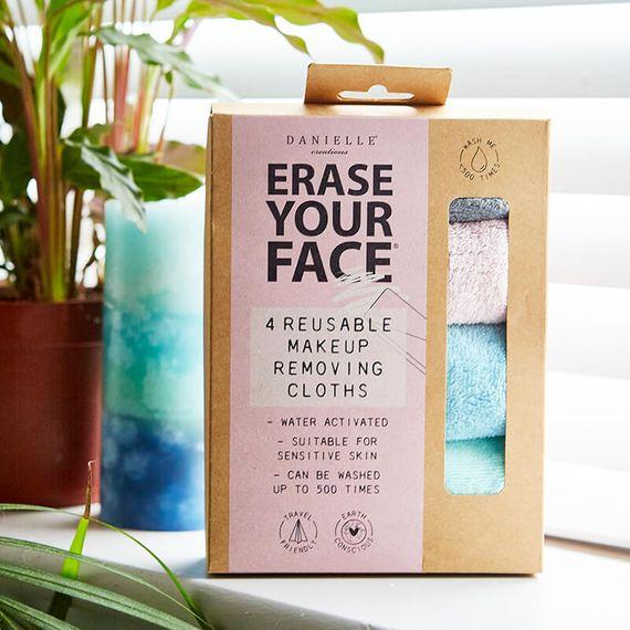 Erase Your Face - Pastel Reusable Makeup Removing Cloth - Set of 4