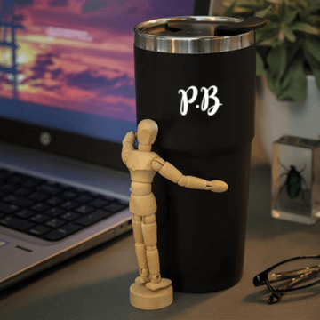 Personalised Light Up Initial Travel Mug