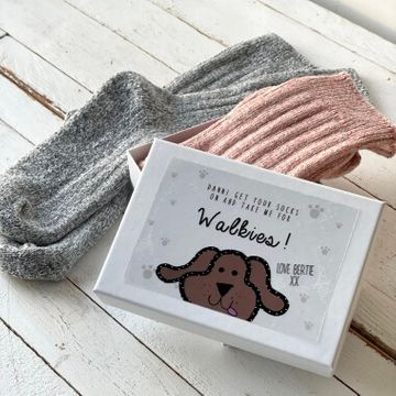 Personalised Dog Walking Socks