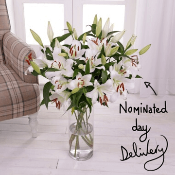 Oriental White Lilies Bouquet