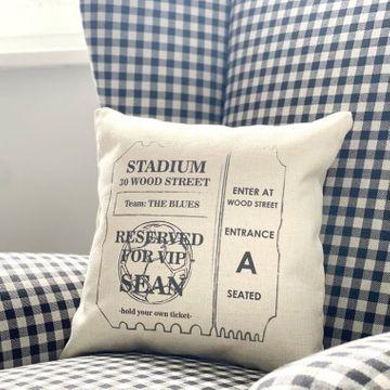 Personalised Football Ticket Cushion