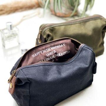 Personalised Men's Hidden Message Wash Bag
