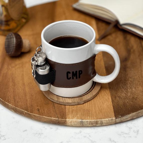 personalised mug with hip flask