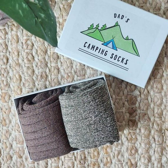 Personalised Camping Socks in a Box