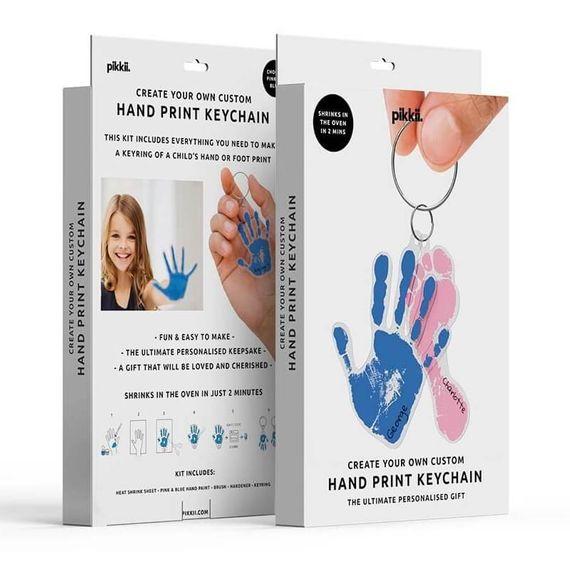Kids Hand Print Shrink Keyring Kit