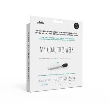 My Goal This Week Mirror Sticker And Pen