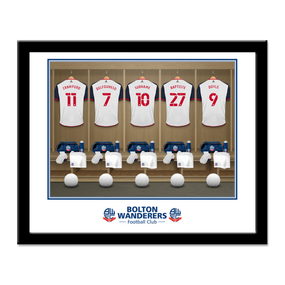 Personalised Bolton Wanderers FC Dressing Room Framed Print