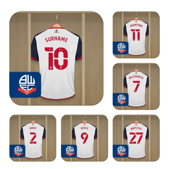 Personalised Bolton Wanderers FC Dressing Room Coasters