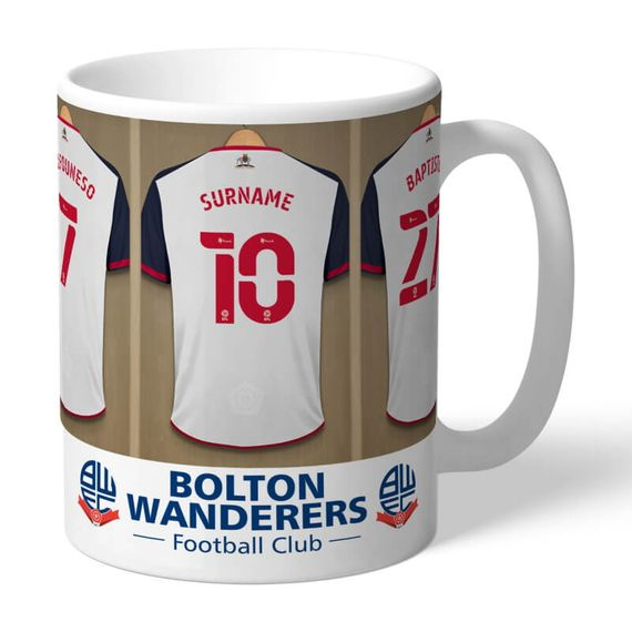 Personalised Bolton Wanderers FC Dressing Room Mug