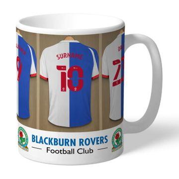 Personalised Blackburn Rovers FC Dressing Room Mug