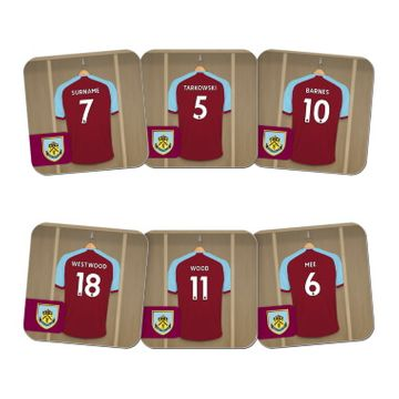Personalised Burnley FC Dressing Room Coasters