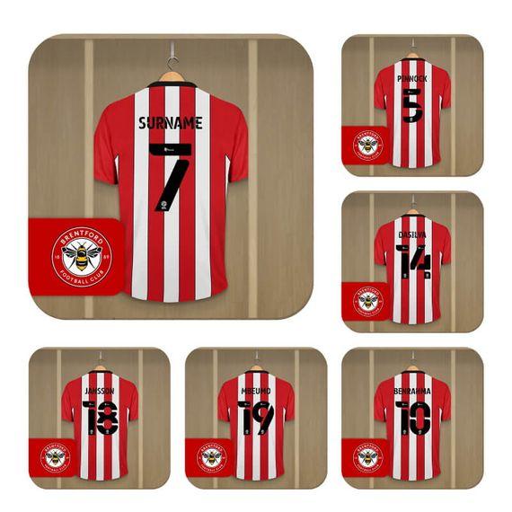 Personalised Brentford FC Dressing Room Coasters