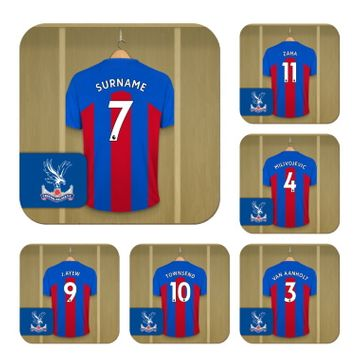 Personalised Crystal Palace FC Dressing Room Coasters