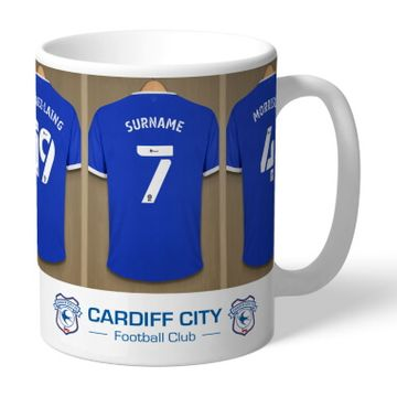 Personalised Cardiff City Dressing Room Mug