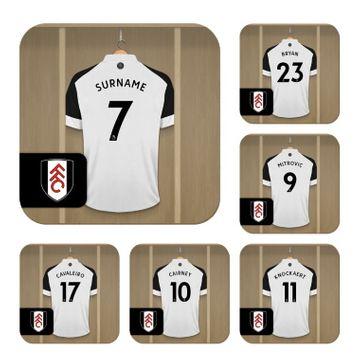 Personalised Fulham FC Dressing Room Coasters
