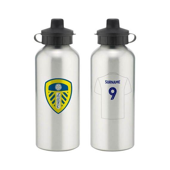 Personalised Leeds United FC Aluminium Water Bottle