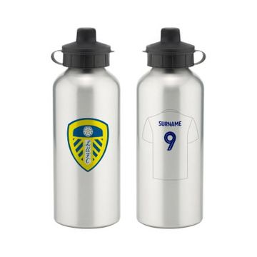 Personalised Leeds United FC Aluminium Water Bottle