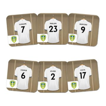 Personalised Leeds United FC Dressing Room Coasters