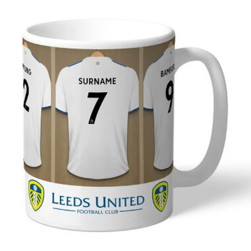 Personalised Leeds United FC Dressing Room Mug