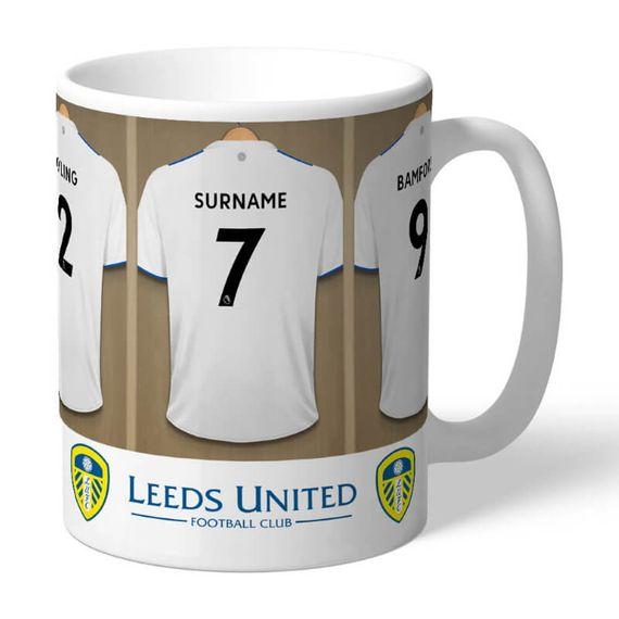 Personalised Leeds United FC Dressing Room Mug