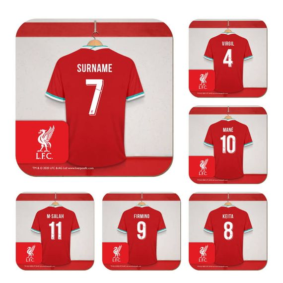 Personalised Liverpool FC Dressing Room Coasters