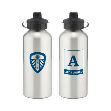Personalised Leeds United FC Monogram Aluminium Water Bottle