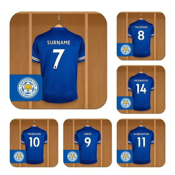 Personalised Leicester City FC Dressing Room Coasters