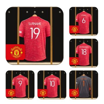 Personalised Manchester United FC Dressing Room Coasters